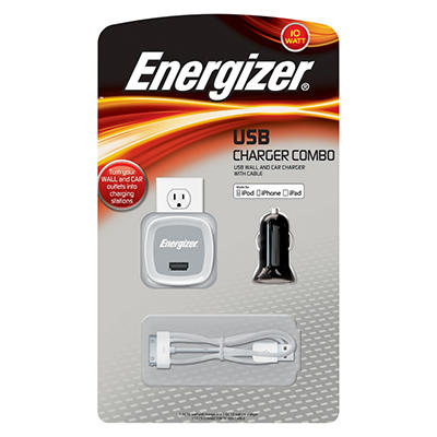 Energizer 10W USB Portable Charger Combo