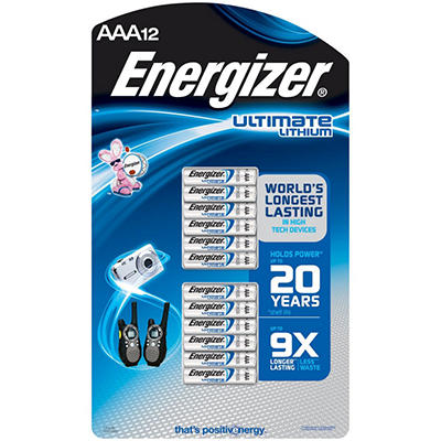 Energizer Lithium AAA - 12 pack