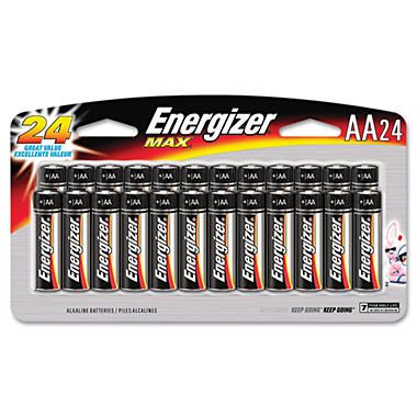 Energizer AA Alkaline Batteries - 24 pk.