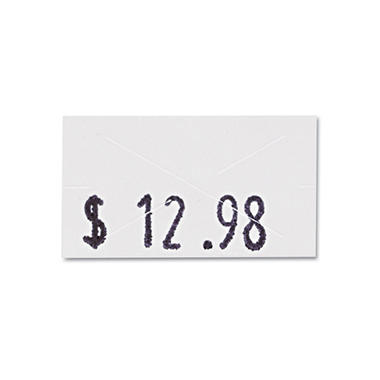 Garvey One-Line Pricemarker Labels, 7/16 x 13/16, White, 1200/Roll, 3 Rolls/Box