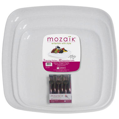 Mozaik� Platter Set with Mini Forks