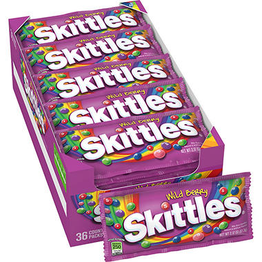 Wild Berry Skittles® Candy - 2.17 oz. - 36 ct.
