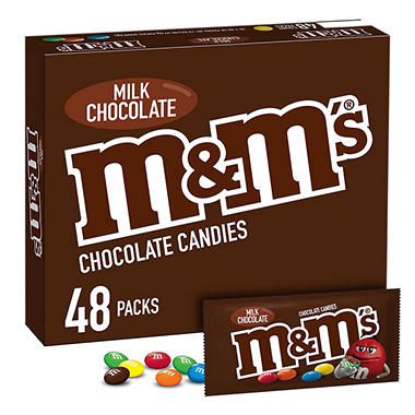 M & M's� Milk Chocolate (1.69 oz., 48 pk.)