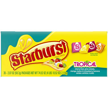 Starburst Tropical Fruit Chews - 2.07 oz. - 36 ct.
