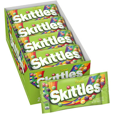 Sour Skittles� Candy - 1.8 oz. - 24 ct.