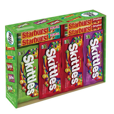 Skittles/Starburst Variety Pack - 30 ct.