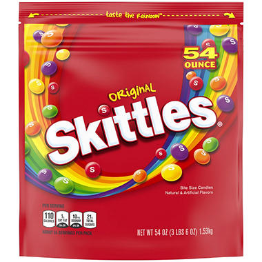 Skittles Original Fruit Bite Size Candies (54 oz. bag)