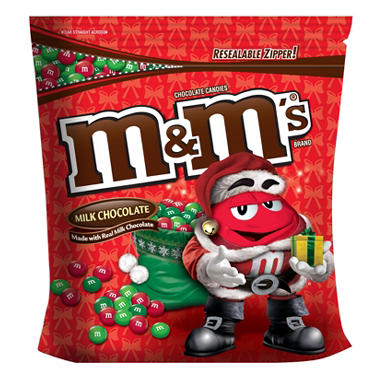 M&M'S® Chocolate Candies Milk and Peanut Red and Green