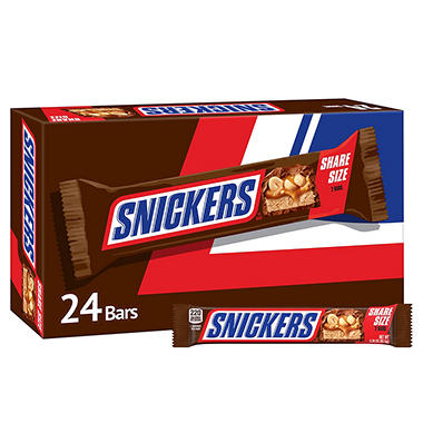 Snickers Candy Bar, King Size (24 ct.)