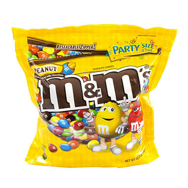 M&M's� Chocolate Candies - Peanut - 42 oz. bag