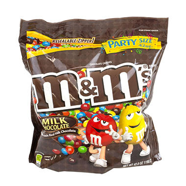 M&M's® Plain Chocolate Candies - 42 oz. bag