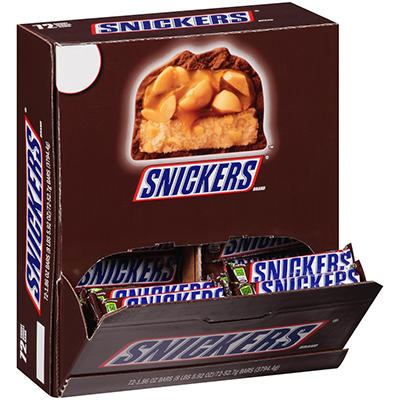 Snickers Candy Bar (1.86 oz. ea., 72 ct.)