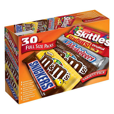Mars One Stop Variety Pack (30 ct.) - Sam's Club