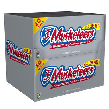 10PK 3MUSKETEERS 10 FULL SIZE BARS
