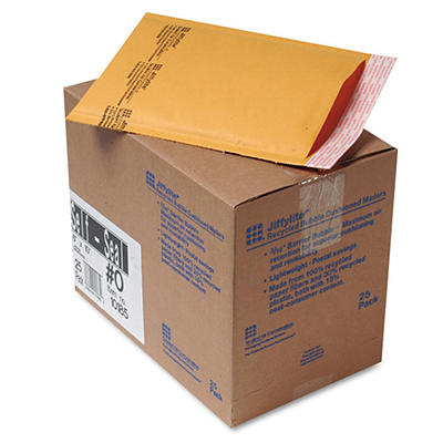 Sealed Air - Jiffylite Self-Seal Mailer - Side Seam - 6 x 10 - Golden Brown -  25 Pack