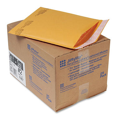 Sealed Air - Jiffylite Self-Seal Mailer - Side Seam - Golden Brown - 25 Pack