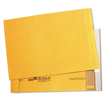 Sealed Air - Jiffy Utility Self-Seal Mailer, Side Seam, #2E, 9 x 12, Golden Brown, 100 per Carton