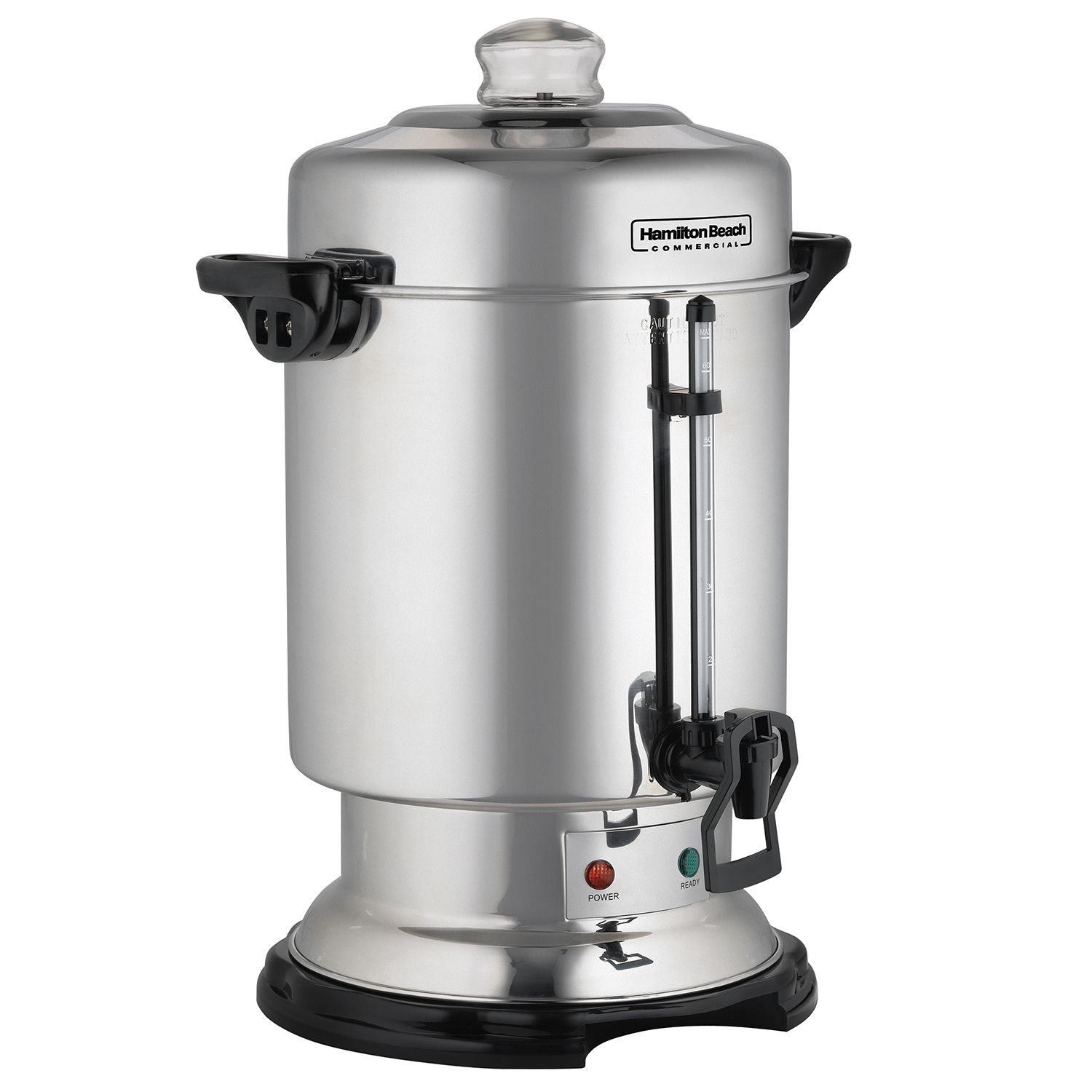 New Silver Hamilton Beach D50065 Commercial 60-Cup Stainless-Steel Coffee Urn