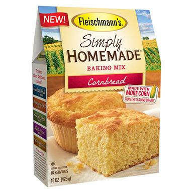 Fleischmann S Simply Homemade Cornbread Mix 45 Oz Sam