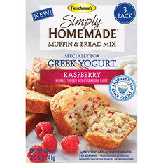 Fleischmann's Simply Homemade Muffin and Bread Mix, Various Flavors (40.2 oz., 3 pk.)