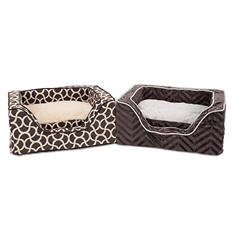 "DMC Luxurious Orthopedic 23"" x 19"" Pet Bed (Assorted Colors)"