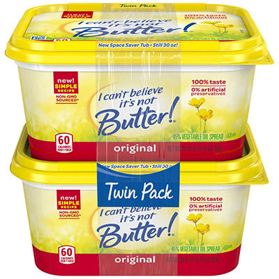I Can't Believe It's Not Butter, (30 Oz., 2 Pk)