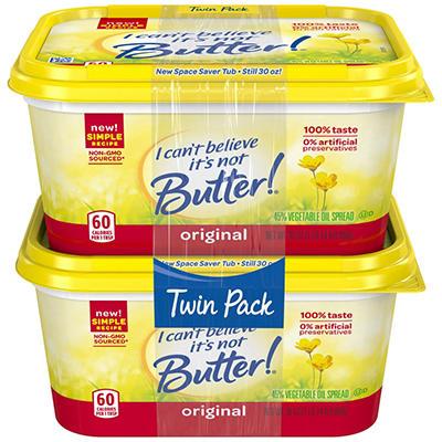 I Can't Believe It's Not Butter, (30 Oz., 2 Pk)