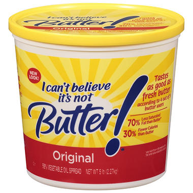 I Can't Believe It's Not Butter!® Original Vegetable Oil Spread - 5 lb.