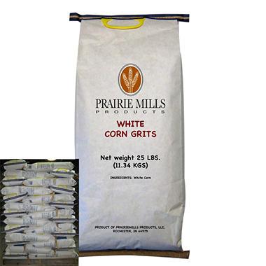 Prairie Mills White Corn Grits - 80 bags - 25 lb. each