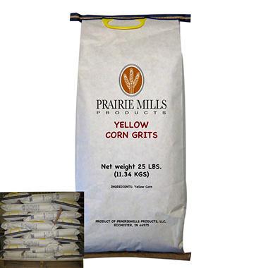 Prairie Mills Yellow Corn Grits - 40 bags - 25 lb. each