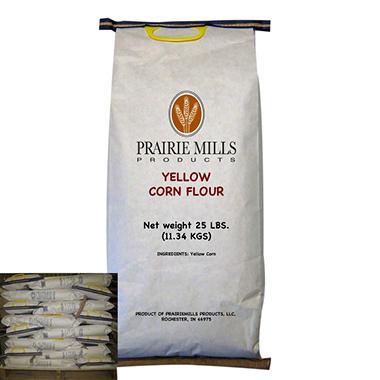 Prairie Mills Yellow Corn Flour - 40 bags - 25 lb. each