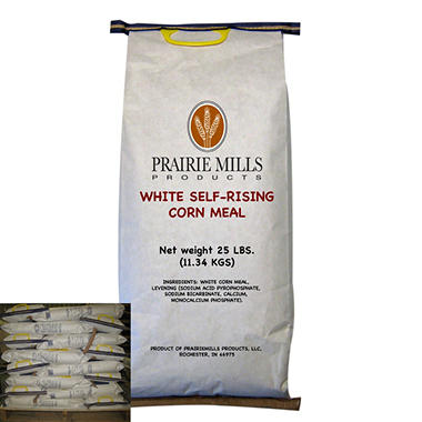 Prairie Mills Self-Rising White Corn Meal - 40 bags - 25 lb. each