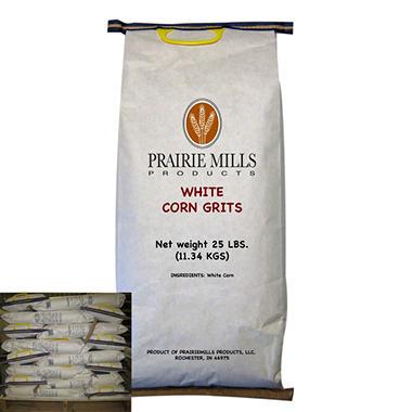 Prairie Mills White Corn Grits - 40 bags - 25 lb. each