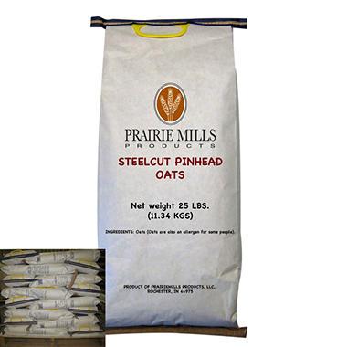 Prairie Mills Steelcut Pinhead Oats - 40 bags - 25 lb. each