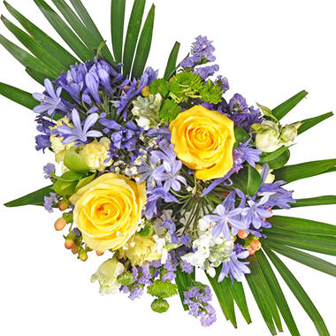 Golden Periwinkle Mixed Bouquet - 7 pk.