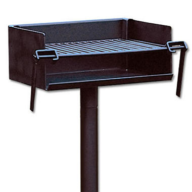 Stationary Heavy-Duty Park Charcoal Grill