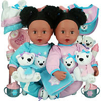 Brass Key Celebrating Twins Vinyl Dolls - Snow Cubs (African American)