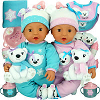 Brass Key Celebrating Twins Vinyl Dolls - Snow Cubs (Hispanic)