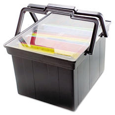 Advantus® Companion Letter/Legal Portable File Storage Box - Black