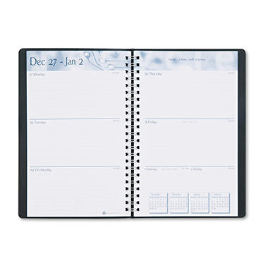 House of Doolittle - Academic Weekly/Monthly Appointment Book/Planner - 5 x 8 - Black - 2013-2014