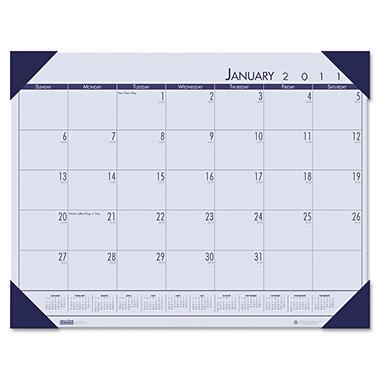 House of Doolittle - EcoTones Ocean Blue Monthly Desk Pad Calendar, 18-1/2 x 13, 2013