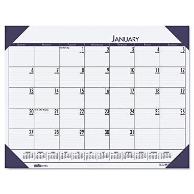 House of Doolittle - EcoTones Ocean Blue Monthly Desk Pad Calendar, 18-1/2 x 13 -  2015