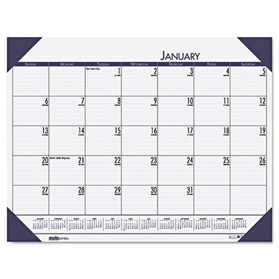 House of Doolittle - EcoTones Ocean Blue Monthly Desk Pad Calendar, 18-1/2 x 13 -  2015