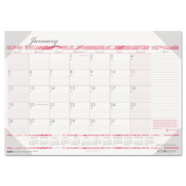 House of Doolittle - Breast Cancer Awareness Monthly Desk Pad Calendar - 18-1/2 x 13 - 2014