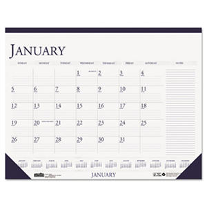 House of Doolittle - Two-Color Monthly Desk Pad Calendar w/Large Notes Section, 18-1/2 x 13 -  2016