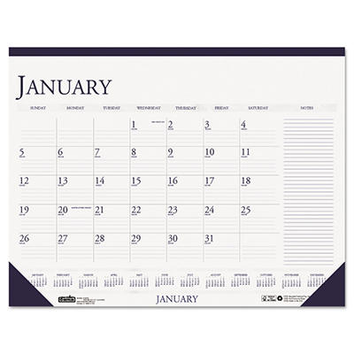 House of Doolittle - Two-Color Monthly Desk Pad Calendar w/Large Notes Section, 18-1/2 x 13 -  2015