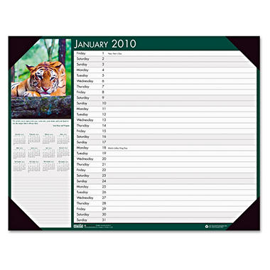 House of Doolittle - Wildlife Photographic Monthly Desk Pad Calendar, 22 x 17, 2013