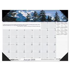 House of Doolittle - Mountains of the World Photographic Monthly Desk Pad Calendar, 22 x 17 -  2016
