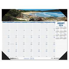 House of Doolittle - Coastlines Photographic Monthly Desk Pad Calendar, 22 x 17 -  2016