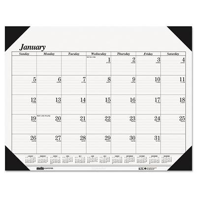House of Doolittle - Workstation-Size One-Color Monthly Desk Pad Calendar, 18-1/2 x 13 -  2015